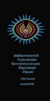 Native Truth - Chief Seattle Poster by Lea Wiggins