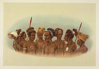 Natives Of The Admiralty Islands Poster