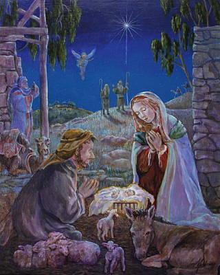 Nativity Poster by Jan Mecklenburg
