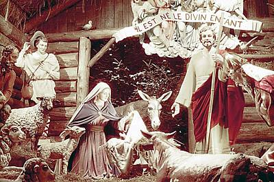 Nativity Scene In Montreal Poster