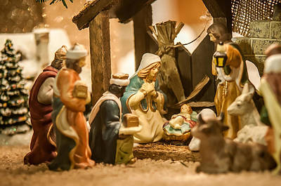 Poster featuring the photograph Nativity Set by Alex Grichenko