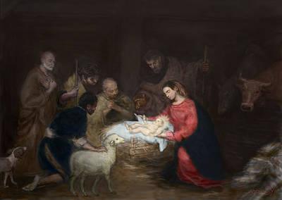 Nativity Poster by Walter Lynn Mosley