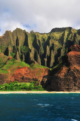 Natural Cathedrals Of Napali Coast Poster