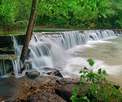 Natural Falls, Lee Creek, Arkansas, Usa Poster