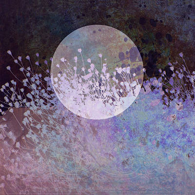 Nature Collage In Blue Poster by Ann Powell