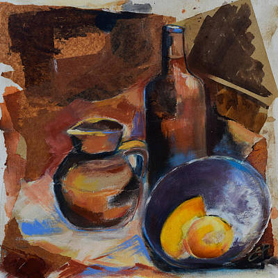 Poster featuring the painting Still Life Sepia by Elise Palmigiani
