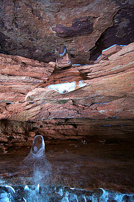 Natures Artistry - Apostle Island Sea Caves - February 2014  Poster by Carol Toepke