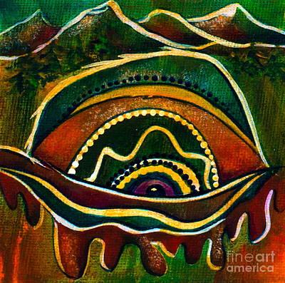 Nature's Child Spirit Eye Poster by Deborha Kerr