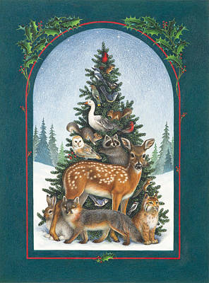 Nature's Christmas Tree Poster