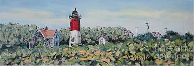 Nauset Lighthouse Poster by Larry Lerew