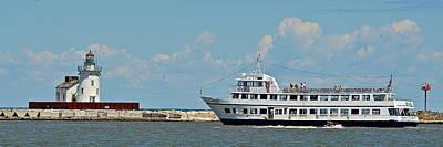 Nautica Queen In Lake Erie Harbor Poster