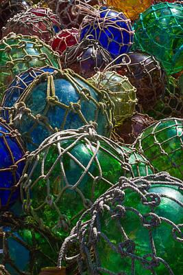 Nautical Art - Glass Fishing Net Floats Poster