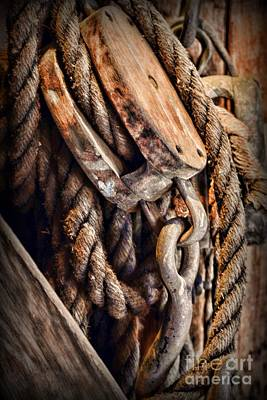 Nautical - Boat - Block And Tackle With Rope Poster