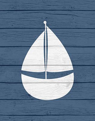 Nautical Sailboat Poster by Tamara Robinson