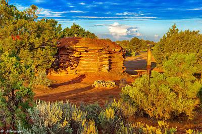 Navajo Hogan Canyon Dechelly Nps Poster by Bob and Nadine Johnston
