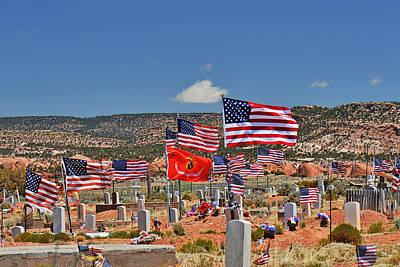Navajo Veteran's Memorial Cemetery Tsehootsooi Poster by Christine Till