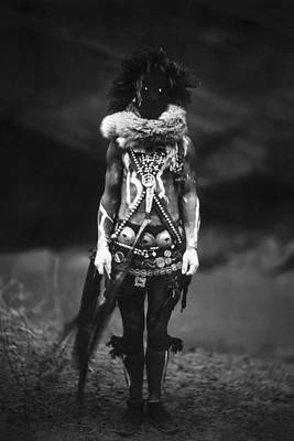 Navajo Warrior Circa 1904 Poster