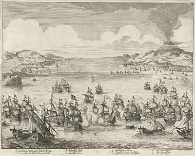 Naval Battle At Agosta, 1676, Jan Luyken Poster by Jan Luyken And Hendrick And Dirk Boom