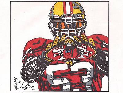 Navorro Bowman Poster by Jeremiah Colley