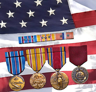 Navy Medals Poster by Jamieson Brown