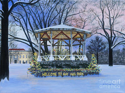 Nay Aug Park Holiday Lights Poster