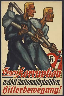 Nazi Party Poster For The German Poster