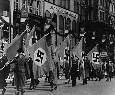 Nazis Parade In Vienna, Austria, On May Poster by Everett