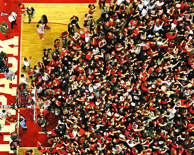 Nc State Fans Celebrate At Pnc Arena Poster by Replay Photos