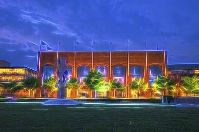 Ncaa Hall Of Champions Glow Poster by David Haskett