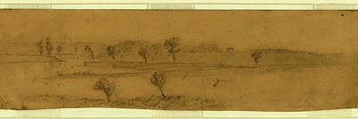 Near Butlers Right On James River, 1863-1865, Drawing Poster by Quint Lox
