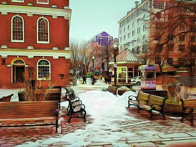 Near Quincy Market In Boston Poster by Yury Malkov