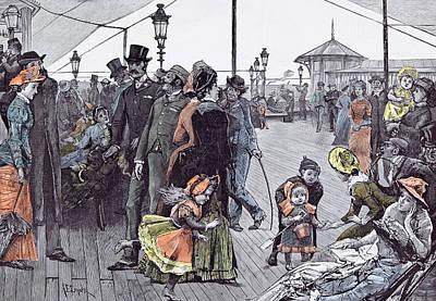 Near The Sea In 1885 Britain Sea Breeze Holiday Break Poster