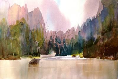 Near Yosemite Poster by Larry Hamilton