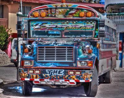 Neat Panamanian Graffiti Bus  Poster