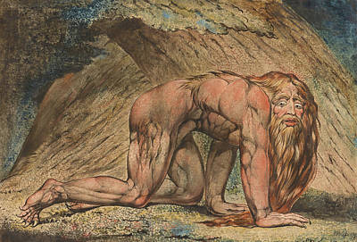 Nebuchadnezzar Poster by William Blake