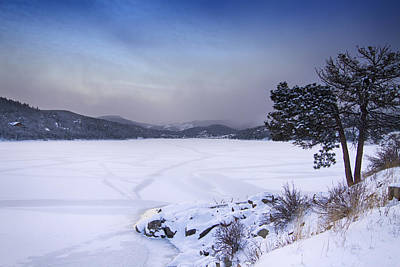 Nederland Colorado Barker Reservoir Winter Scenic View Poster