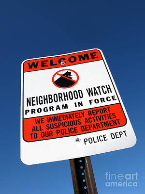 Neighborhood Watch Poster by Olivier Le Queinec