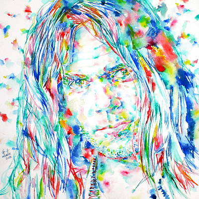 Neil Young - Watercolor Portrait Poster