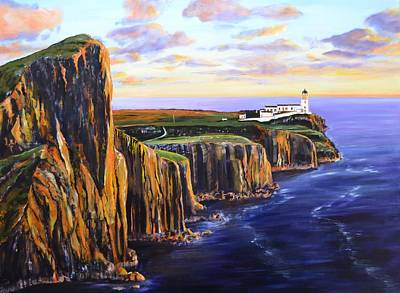 Neist Point - Isle Of Skye Poster by Mike Paget