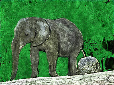 Poster featuring the digital art Nelly The Elephant by Pennie  McCracken