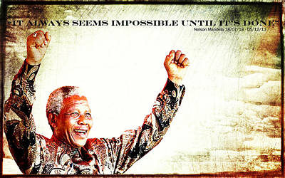 Nelson Mandela Poster by Spikey Mouse Photography