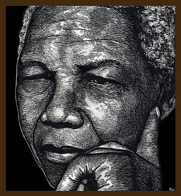 Nelson Mandela Portrait Poster by Ricardo Levins Morales