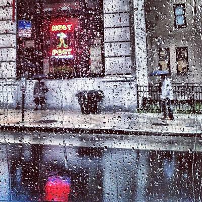 Neon And Rain Poster