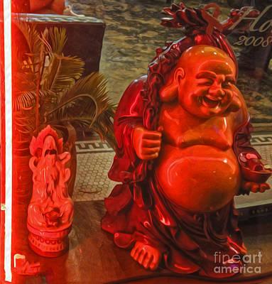 Neon Buddha Poster