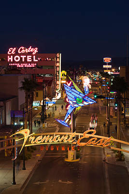 Neon Casino Signs Lit Up At Dusk, El Poster by Panoramic Images