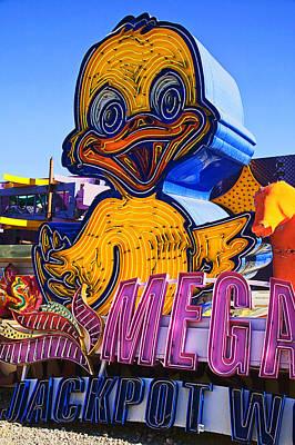 Neon Duck Poster