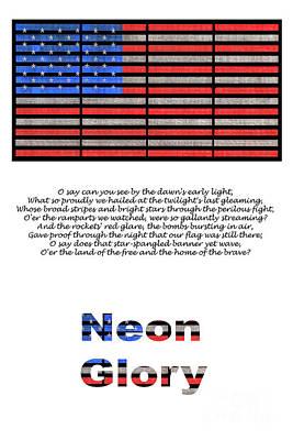 Neon Glory Poster by John Farnan