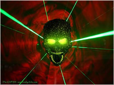 Neon Skull Poster