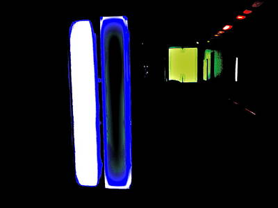 Neon Subway Tunnel Poster