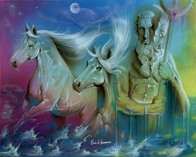 Neptune Poster by Luis  Navarro